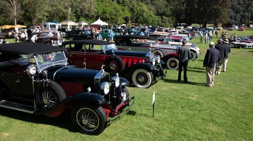 San Marino Motor Classic antique cars lined up