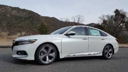 White 2018 Honda Accord Driverside profile