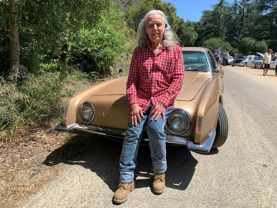 Alexander Lehr with his 1963 Studebaker Avanti at the Highway Earth Auto Show.