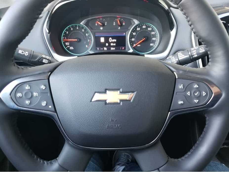 steering wheel and instruments
